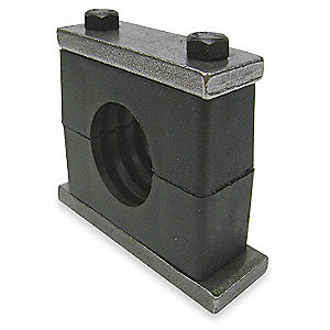 Weld Plate Tube Clamp Kit, 30mm Tube Size, Steel