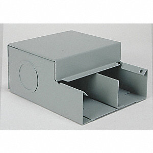 Steel Entrance End For Use With 4000 Raceway, Gray