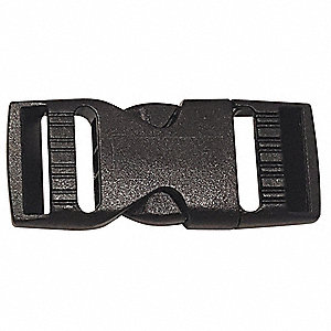Side Squeeze Buckle,3/4 In.,Plastic,PK10