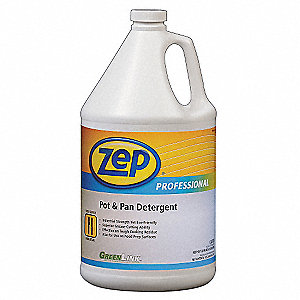 Liquid Pot and Pan Cleaner, 1 gal. Bottle, 1 EA