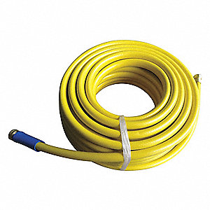 Water Hose,Rnfrcd PVC,5/8 In ID,100 ft L