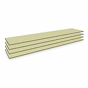 "69"" x 15"" Particle Board Decking, Gray"