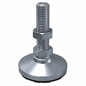 "Leveling Mount, Swiveling Stud, 3750 lb. Load Capacity, 3"" Height, Nickel"