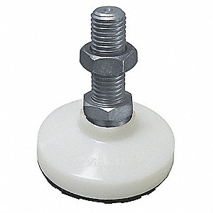 "Leveling Mount, Swiveling Stud, 2400 lb. Load Capacity, 10"" Height, Stainless Steel"