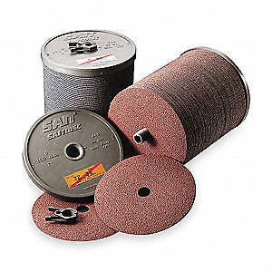"4"" Coated Fiber Disc, 5/8"" Mounting Hole Size, Coarse, 80 Grit Aluminum Oxide, 100 PK"