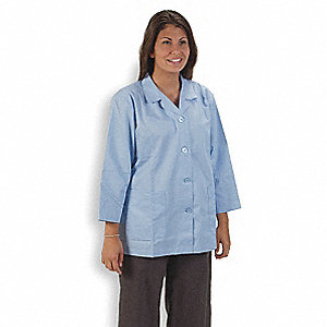 Collared Lab Jacket,Female,XL,Light Blue