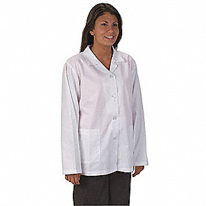 Collared Lab Jacket,Female,M,White
