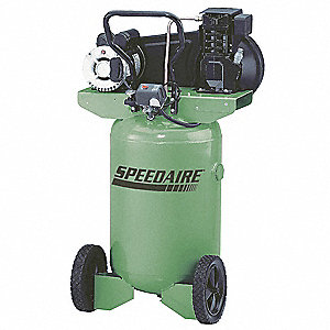 2.0 HP, 115/230VAC, 20 gal. Portable Electric Barrel Air Compressor, 135 psi