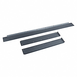 Side/Back Rail Kit, 96W x 36D x 3H, Gray