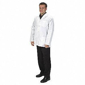 Collared Lab Jacket,Male,L,White