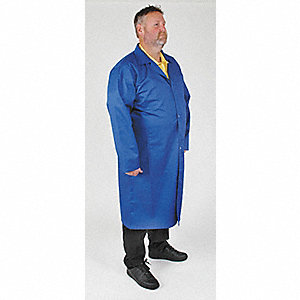 Static Cntrl Cllrd Lab Coat,Male,XL,Blue