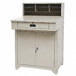 Shop Desk,34 x 55-1/2 x 30-1/4 In,Beige