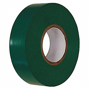 "Green Flame Retardant Polyvinyl Chloride Electrical Tape, 3/4"" Width, 60 ft. Length, 7 mil Thickness"