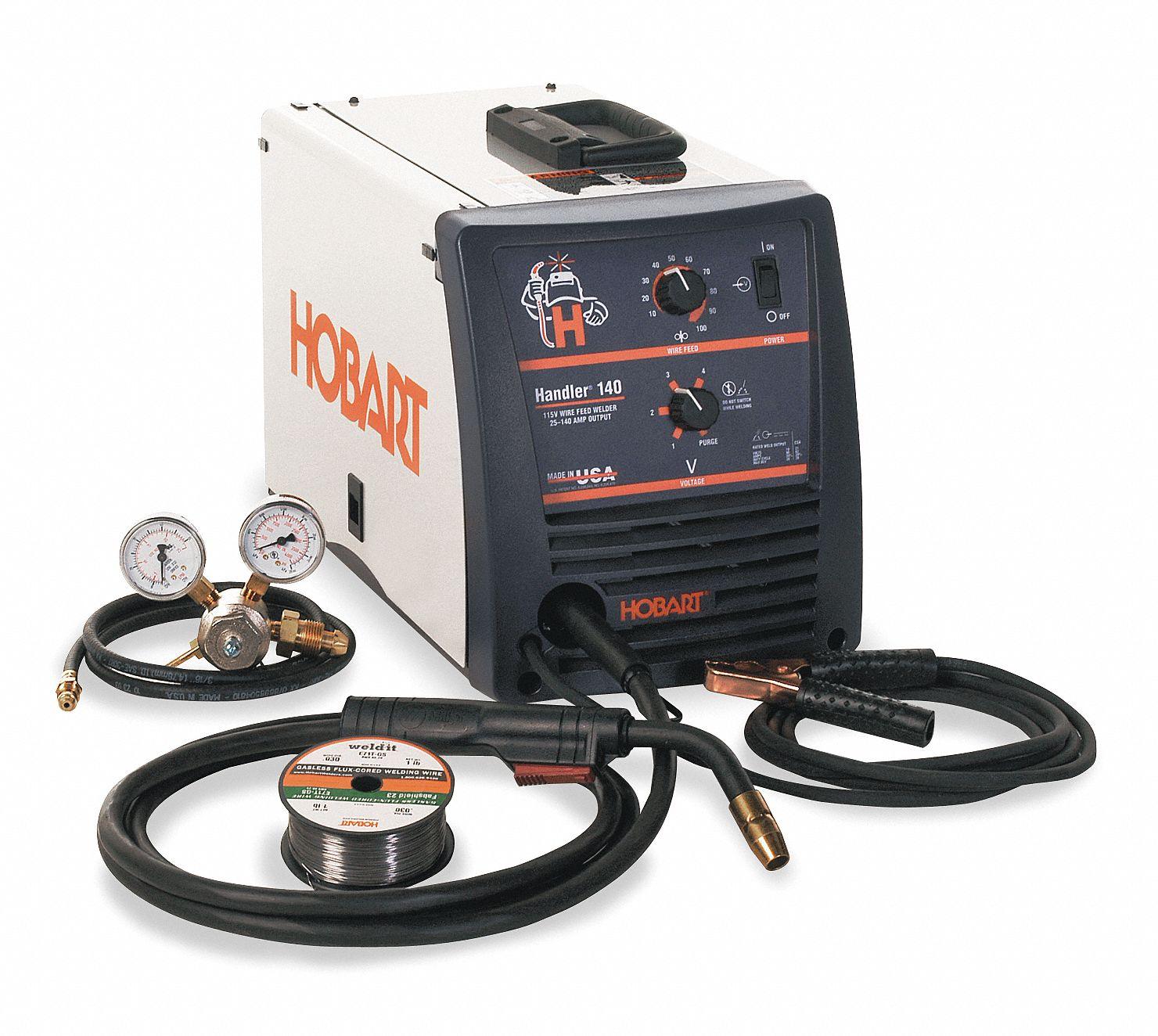HOBART MIG Welder, Handler 140 Series, Input Voltage: 120VAC, Flux ...