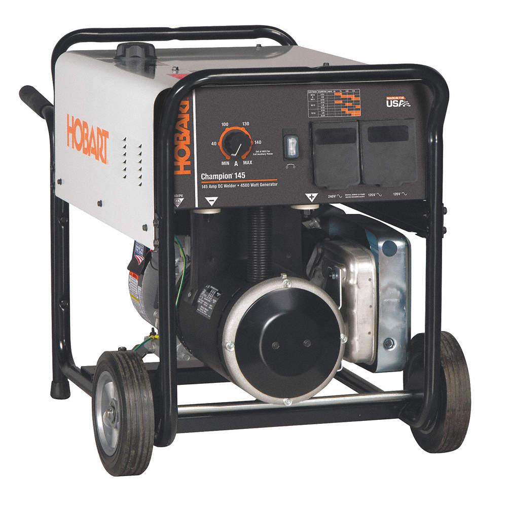 HOBART Welder/Generator, Champion Series, 10 HP Briggs
