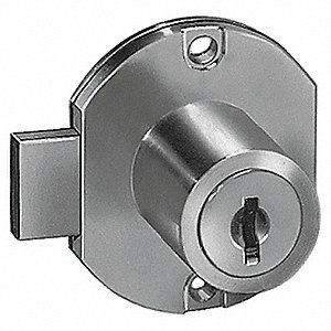 DISC TUMBLER CAM DOOR LOCK,BRGTBRS,