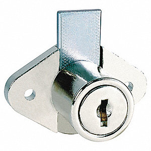 Keyed Alike Drawer Dead Bolt, For Door Thickness (In.): 15/16, Bright Nickel