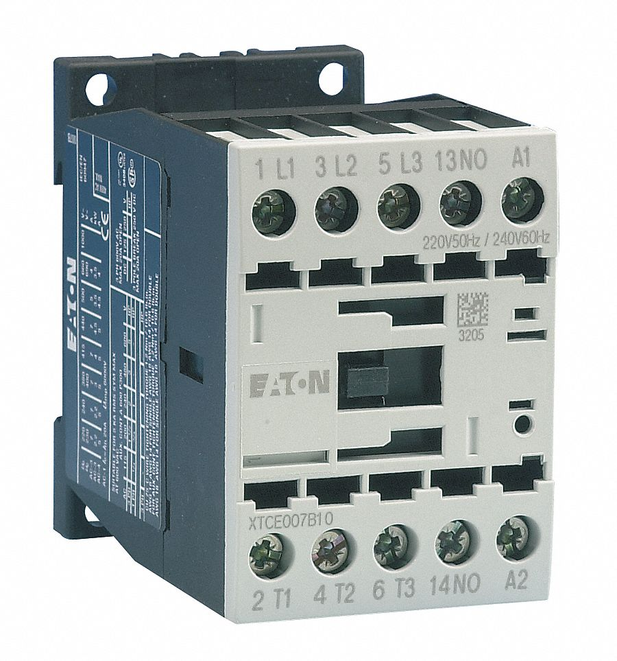 2 DAYTON IEC REVERSING CONTACTOR 3-POLE..12-AMPS..120 VAC-COIL