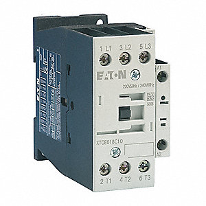 240VAC IEC Magnetic Contactor; No. of Poles 3, Reversing: No, 32 Full Load Amps-Inductive