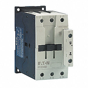 240VAC IEC Magnetic Contactor; No. of Poles 3, Reversing: No, 40 Full Load Amps-Inductive