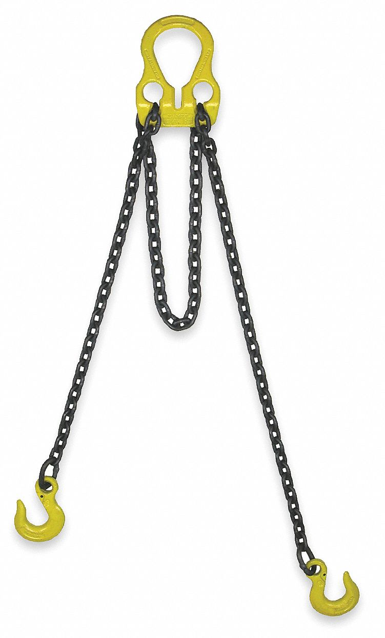 Chain Sling 1//2 x 5 Single Leg with Positive Locking Hook and Adjuster Grade 80