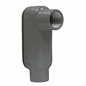 "LB-Style 3/4"" Conduit Outlet Body with Cover, Threaded Aluminum, 7.0 cu. in."
