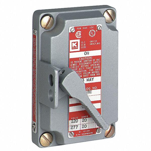 Killark 2 pole motor starter cover and switch assembly 20 for Hazardous location motor starter