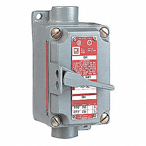 3-Pole Feed-Thru Motor Starter, 20 Amps AC, Enclosure NEMA Rating 7, 9