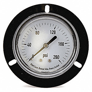 "2-1/2"" General Purpose Pressure Gauge, 0 to 200 psi"