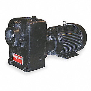 "5HP Cast Iron Centrifugal Pump, 3"" NPT Inlet, 3"" NPT Outlet"
