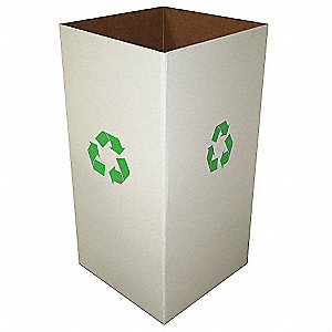 1440 cu. in. Clay White Recycle Collection Box