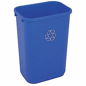 10-1/4 gal. Blue Desk-Side Recycling Container, Open Top
