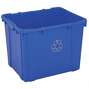 Recycling Container,Blue,14 gal.