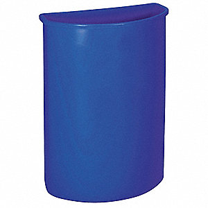 21 gal. Blue Stationary Recycling Container, Open Top