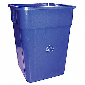 RECYCLING RECEPTACLE,BLUE,55 G