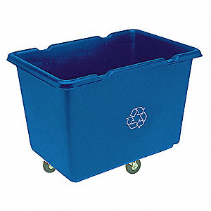 119-1/2 gal. Blue Mobile Recycling Container, Open Top