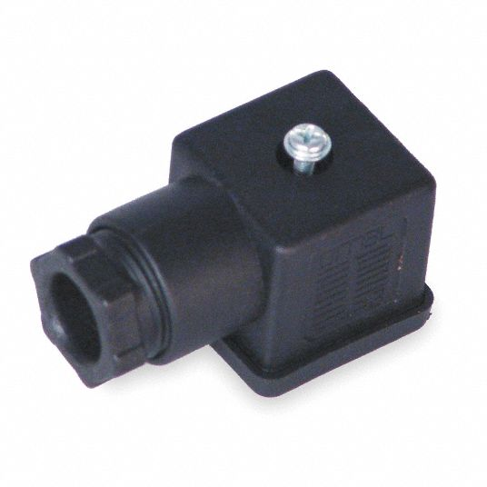 "1.06 in"" x 1.06 in"" x 1.06 in"" Wire Connector Plug, Black; For Use With Solenoid B"