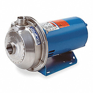 3/4 HP Centrifugal Pump, 1 Phase, 115/230 Voltage, ANSI 316L Stainless Steel Housing Material