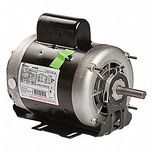 1 HP Belt Drive Motor, Capacitor-Start, 1725 Nameplate RPM, 115/208-230 Voltage, Frame 56Z