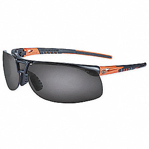 HD1100 Scratch-Resistant Safety Glasses, Gray Lens Color