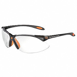 HD1200 Scratch-Resistant Safety Glasses, Clear Lens Color