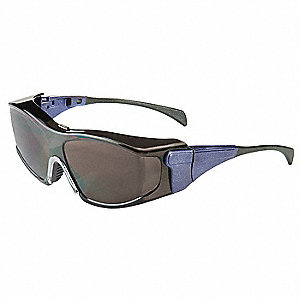 Ambient  OTG Scratch-Resistant Safety Glasses, Shade 5.0 Lens Color