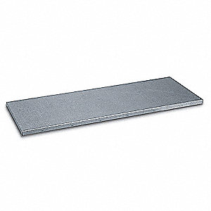 Shelf,Stainless Steel,40 In. W,1 In. H