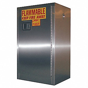 "12 gal. Flammable Cabinet, 35"" x 24"" x 18"", Manual Door Type"