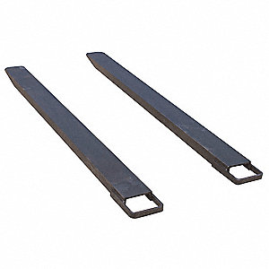 Fork Extensions,Black,4 x 96 In,Pk2