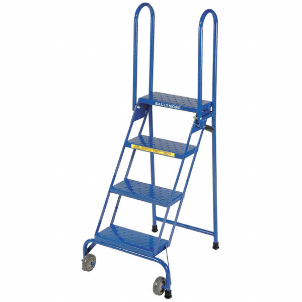 Ballymore 4 Step Folding Rolling Ladder Perforated Step