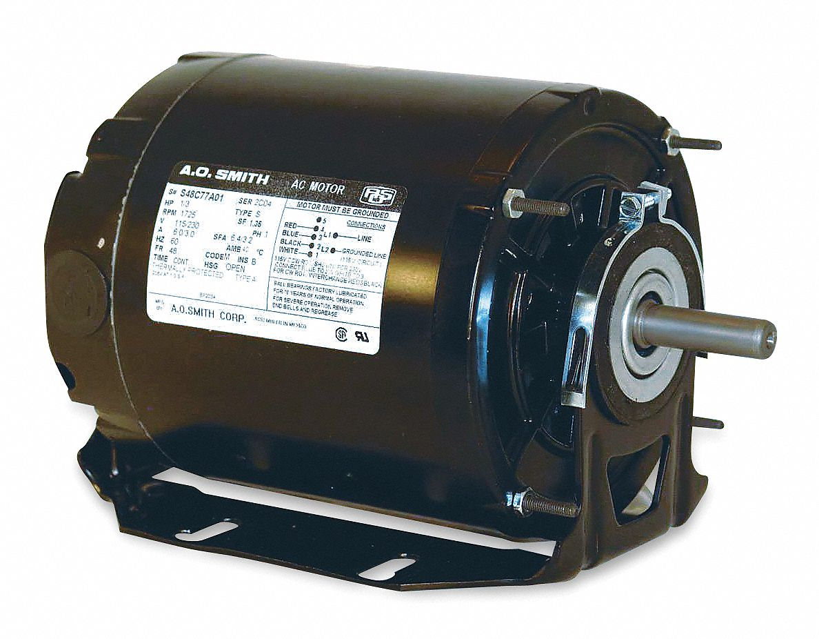 Century 1 2 Hp Belt Drive Motor Split Phase 1725 Nameplate Rpm Electrical Single Line Diagrampart One Knowhow 115 Voltage Frame 48 4ue85 Gf2054 Grainger