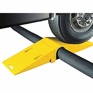 Drop Over 1-Channel Modular Hose Bridge, Yellow, 5 ft.