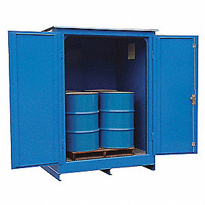 Storage Locker, Fire Rated,4 Drums,Steel