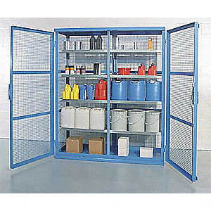 Enclosed Containment Shelves,Galvanized